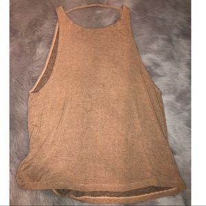 Muscle tank with open back